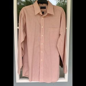 """Stafford Essentials Long Sleeve Shirt 16.5"""" Fitted"""